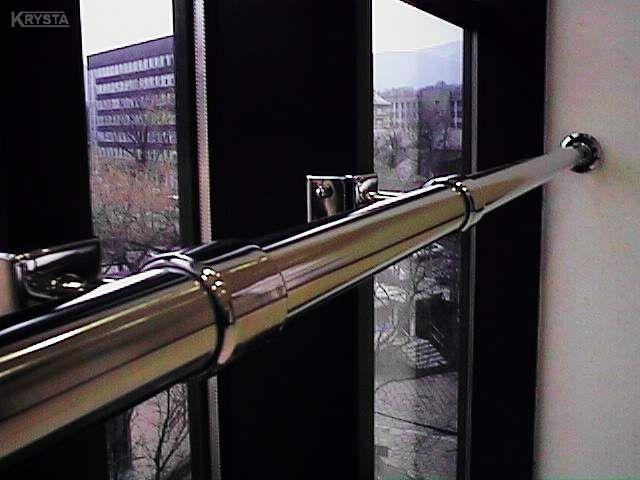 Poręcz na fasadzie aluminiowej. Bielsko-B.