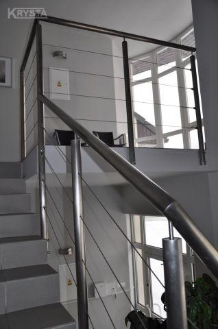 Balustrada z wypełnieniem linkami. Jaworze.