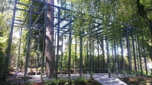 Konstrukcja stalowa pod ogród zimowy - pergolę.
