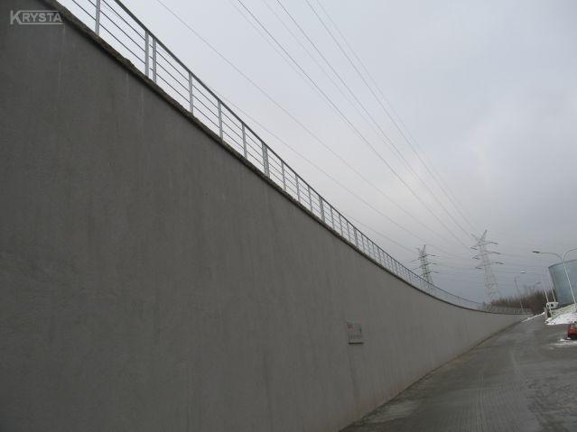 Balustrada na murach oporowych Katowice.