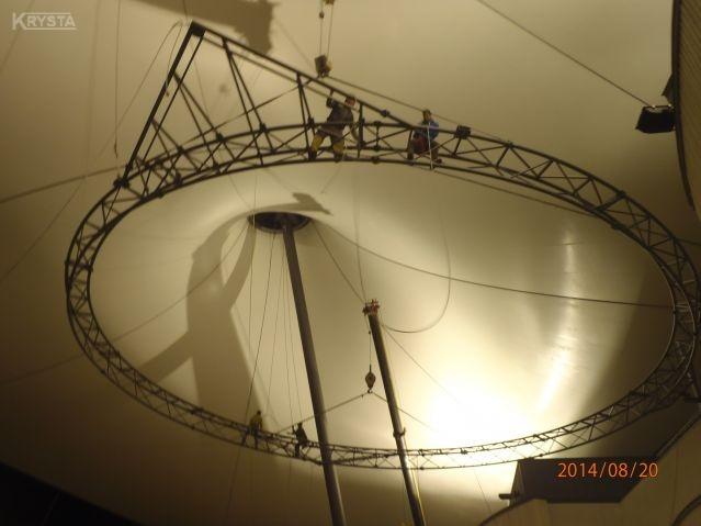 Konstrukcja ringu dla Amfiteatru Żywiec.
